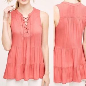 Anthropologie Anafa Lace Up Top NWT